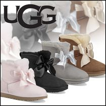 UGG Australia Rubber Sole Suede Plain Elegant Style Ankle & Booties Boots