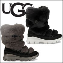 UGG Australia Rubber Sole Casual Style Suede Street Style Plain