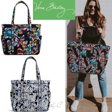 Flower Patterns Paisley Casual Style Street Style Totes