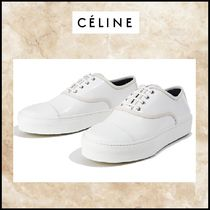 CELINE Lace-up Leather Low-Top Sneakers