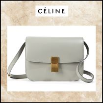 CELINE Classic 2WAY Leather Elegant Style Shoulder Bags
