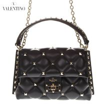 VALENTINO Casual Style 2WAY Plain Leather Shoulder Bags