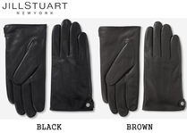 JILLSTUART Street Style Plain Leather Leather & Faux Leather Gloves
