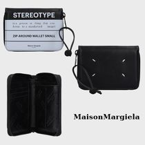Maison Martin Margiela Calfskin Bi-color Folding Wallets