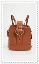 PARISA WANG 2WAY Plain Leather Elegant Style Backpacks