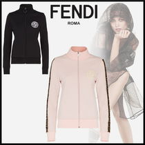 FENDI Short Sweat Long Sleeves High-Neck Cropped