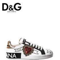 Dolce & Gabbana Rubber Sole Lace-up Casual Style Plain Leather