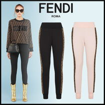 FENDI Sweat Long Elegant Style Sweatpants