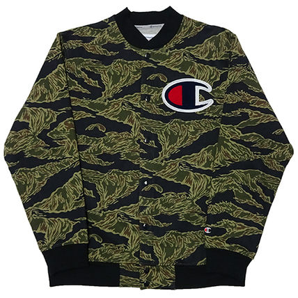 Supreme Button-down Camouflage Unisex Street Style Collaboration