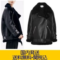 Acne Fur Plain Medium Biker Jackets