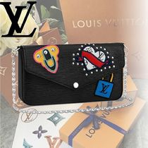 Louis Vuitton EPI Heart Casual Style Calfskin Shoulder Bags