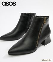 ASOS Casual Style Faux Fur Plain Block Heels