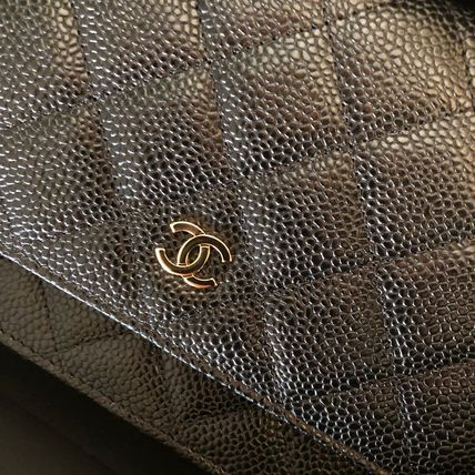CHANEL Shoulder Bags 2WAY Plain Leather Shoulder Bags 3