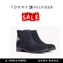 Tommy Hilfiger Star Round Toe Rubber Sole Casual Style Suede Street Style