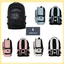 ABROAD Casual Style Unisex Street Style A4 Backpacks