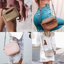 STATUS ANXIETY Casual Style Plain Leather Shoulder Bags