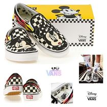 VANS SLIP ON Other Check Patterns Casual Style Unisex Collaboration