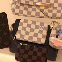 Louis Vuitton DAMIER AZUR Other Check Patterns Canvas Blended Fabrics Bi-color
