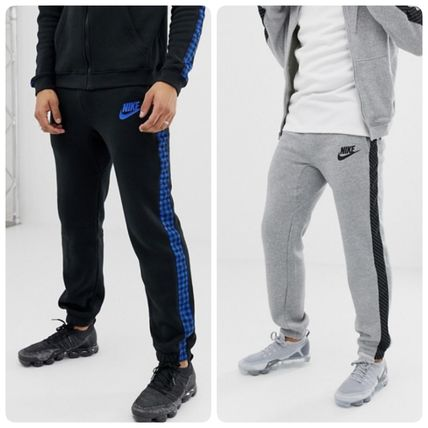 dc2d0ee0f38d ... Nike More Bottoms Gingham Stripes Street Style Cotton Bottoms ...