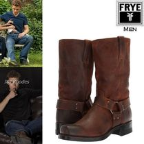 FRYE Suede Plain Engineer Boots