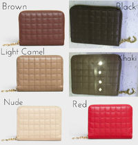 CELINE C Leather Small Wallet Coin Cases