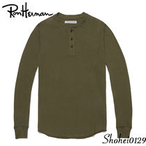 Outer known Pullovers Unisex Henry Neck Plain Cotton Handmade