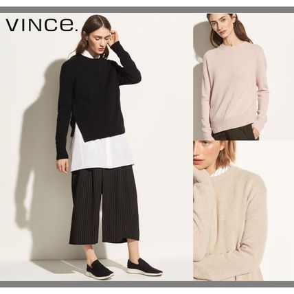 Short Cashmere Plain Cropped