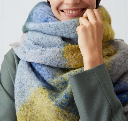 Other Check Patterns Unisex Wool Heavy Scarves & Shawls