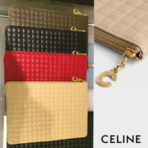 CELINE C Leather Pouches & Cosmetic Bags