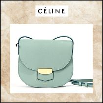 CELINE Trotteur Leather Elegant Style Shoulder Bags
