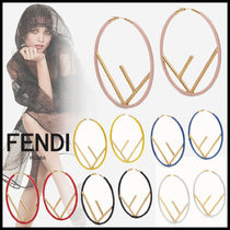 FENDI Casual Style Initial Earrings & Piercings