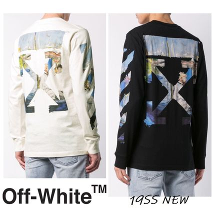 Off-White Long Sleeve Street Style Long Sleeves Cotton Long Sleeve T-Shirts