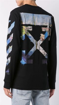 Off-White Long Sleeve Street Style Long Sleeves Cotton Long Sleeve T-Shirts 4