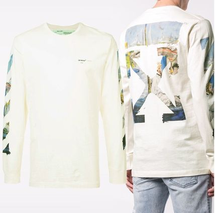 Off-White Long Sleeve Street Style Long Sleeves Cotton Long Sleeve T-Shirts 6