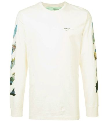 Off-White Long Sleeve Street Style Long Sleeves Cotton Long Sleeve T-Shirts 7