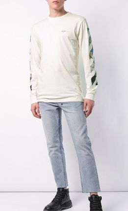 Off-White Long Sleeve Street Style Long Sleeves Cotton Long Sleeve T-Shirts 8