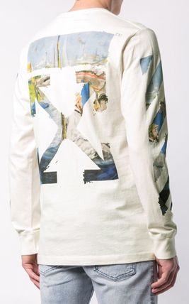 Off-White Long Sleeve Street Style Long Sleeves Cotton Long Sleeve T-Shirts 10