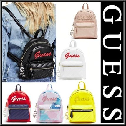 ... Guess Backpacks Casual Style Faux Fur Street Style 2WAY Plain Backpacks  ... 29a08d486ffb0