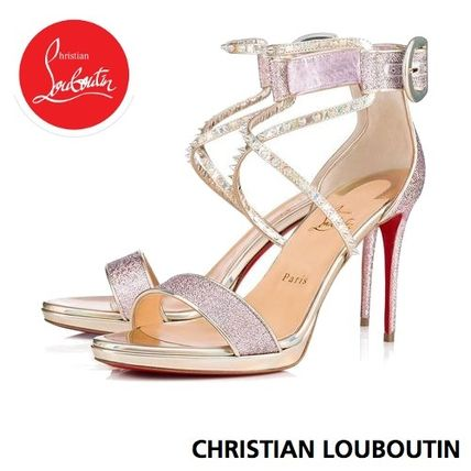 buy online 9413a e43b5 Christian Louboutin Choca 2018-19AW Open Toe Plain Pin Heels Elegant Style  Heeled Sandals (3180187H312)