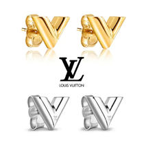Louis Vuitton V Unisex Plain Earrings