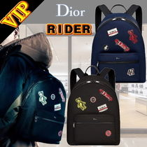 DIOR HOMME Unisex A4 2WAY Other Animal Patterns Backpacks
