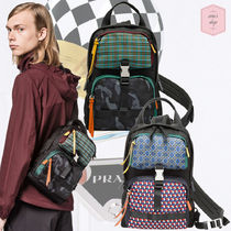 PRADA Other Check Patterns Camouflage Nylon Street Style Backpacks