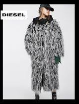 DIESEL Casual Style Unisex Faux Fur Blended Fabrics Long Jackets