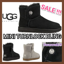 UGG Australia MINI BAILEY BUTTON Casual Style With Jewels Boots Boots