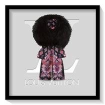 Louis Vuitton Flower Patterns Silk Blended Fabrics Party Style