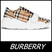 Burberry Other Check Patterns Street Style Sneakers