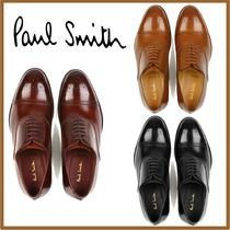Paul Smith Straight Tip Loafers Street Style Plain Leather