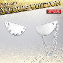 Louis Vuitton Blended Fabrics Chain Silver Elegant Style