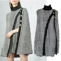 Short Other Check Patterns Zigzag Tight Dolman Sleeves