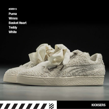 quality design 8ef39 e7dad PUMA BASKET HEART 2018-19AW Faux Fur Street Style Low-Top Sneakers